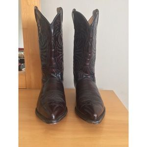 Women's Red Brown Cowboy Western Boots